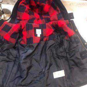 GAP Jackets & Coats - Baby Gap Navy Wool Toggle Coat with Buffalo Check